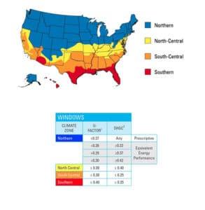 Energy Star Ratings for Windows Map