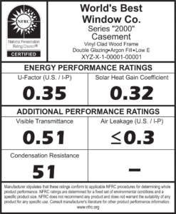 NFRC Window Label