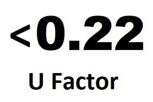Low U-factor efficient windows.